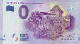 0 Euro Souvenir Schein Schloss Burg II (1)