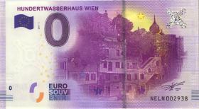 0 Euro Souvenir Schein Hundertwasserhaus Wien (1)