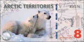 Arctic Territories 8 Dollars 2011 Polymer (1)