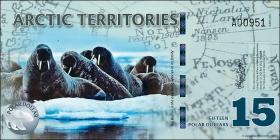 Arctic Territories 15 Dollars 2010 Polymer (1)