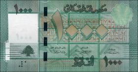 Libanon / Lebanon P.90a 1000 Livres 2011 (1)