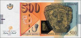 Mazedonien / Macedonia P.21c 500 Denari 2009 (1)