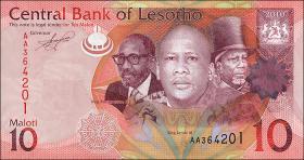 Lesotho P.21 10 Maloti (2010) (1)