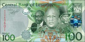 Lesotho P.24 100 Maloti (2010) (1)