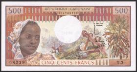 Gabun / Gabon P.02a 500 Francs (1974) (1)