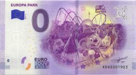 0 Euro Souvenir Schein Europa Park III (1)