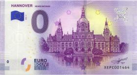 0 Euro Souvenir Schein Hannover Neues Rathaus (1)