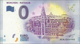 0 Euro Souvenir Schein München Rathaus (1)