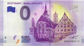 0 Euro Souvenir Schein Stuttgart Schillerplatz (1)