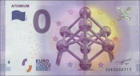 0 Euro Souvenir Schein Belgien Atomium (1)