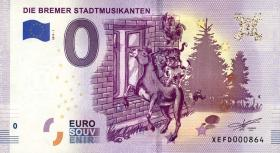0 Euro Souvenir Schein Die Bremer Stadtmusikanten (1)