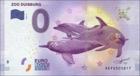 0 Euro Souvenir Schein Zoo Duisburg II (1)