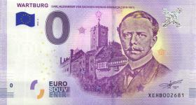 0 Euro Souvenir Schein Wartburg Carl Alexander (1)