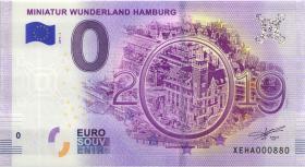 0 Euro Souvenir Schein Wunderland Hamburg (1)