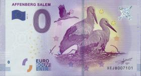 0 Euro Souvenir Schein Affenberg Salem I (1)