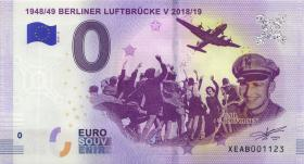 0 Euro Souvenir Schein Berliner Luftbrücke 2018/2019 (1)