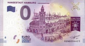 0 Euro Souvenir Schein Hamburg - Landungsbrücken (1)