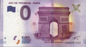 0 Euro Souvenir Schein Paris - Arc de Triomphe (1)