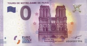 0 Euro Souvenir Schein Paris - Notre Dame (1)