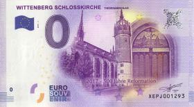 0 Euro Souvenir Schein Wittenberg Schloßkirche r (1)