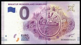 0 Euro Souvenir Schein Miniatur Wunderland II Hamburg (1)