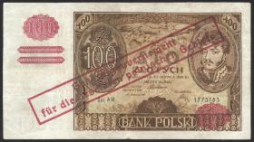 R.569a: Generalgouv. Polen 100 Zlotych 1932 (4)