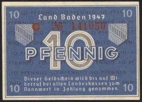R.209d: Baden 10 Pfennig 1947 (1-)