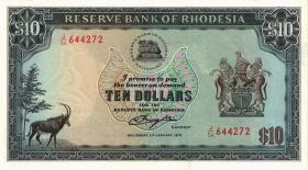 Rhodesien / Rhodesia P.41a 10 Dollars 1979 (2+)