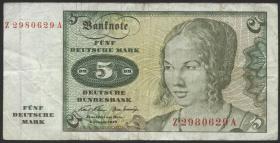 R.269b 5 DM 1970 Ersatznote (4)