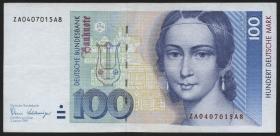 R.294b 100 DM 1989 ZA Ersatznote (3)