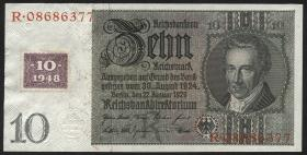 R.334a: 10 DM 1948 Kuponausgabe Serie R/R (1)