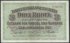 R.460b: Besetzung Russland 3 Rubel 1916 (2)