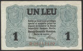 R.474b: Besetzung Rumänien 1 Leu 1917 (2)