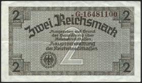 R.552F: 2 Reichsmark (1939) braune KN (3+)
