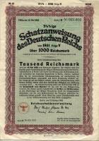 1000 Reichsmark Schatzanweisung 1941 (1-)