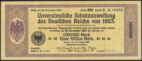 1.000.000 Mark Schatzanweisung 1923 (3+)