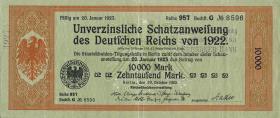 10000 Mark Schatzanweisung 1923 (3+)
