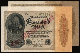 R.110Fe: 1 Mrd. Mark 1922 Aufdruck orange 1922 (1/1-)