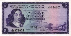 Südafrika / South Africa P.112b 5 Rand (1967-74) (Afrikaans) (3+)
