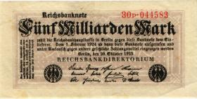R.120b: 5 Milliarden Mark 1923 (3) Serie P