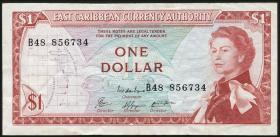 Ost Karibik / East Caribbean P.13e 1 Dollar (1965) (3)