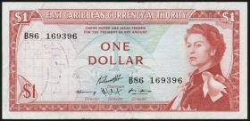 Ost Karibik / East Caribbean P.13g 1 Dollar (1965) (3)