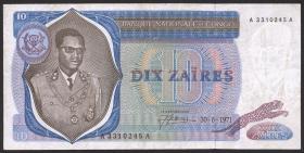 Kongo / Congo P.015 10 Zaires 1971 (3)
