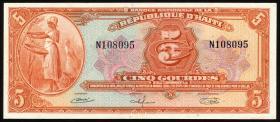 Haiti P.187 5 Gourdes L.1919 (1/1-)