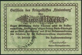1 Mark 1919 Gutschein Kriegsschiff Hindenburg (1)