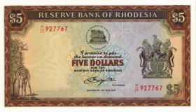 Rhodesien / Rhodesia P.40 5 Dollars 15.5.1979 (1)