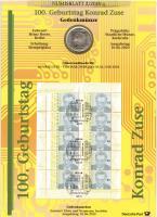 2010/2 100. Geburtstag Konrad Zuse - Numisblatt