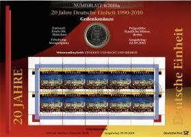 2010/4 20 Jahre Deutsche Einheit 1990-2010 - Numisblatt