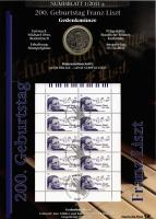 2011/1 100. Geburtstag Franz Liszt - Numisblatt