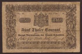 A-212 Preußen 5 Thaler Courant 1848 Ser IV (4)